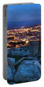 Cemetery Overlooking Fes, Morocco Portable Battery Charger