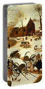 Census At Bethlehem Portable Battery Charger by Pieter the Elder Bruegel