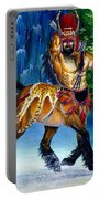 Centaur In Waterfall Portable Battery Charger