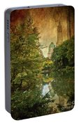 Central Park In Autumn Texture 4 Portable Battery Charger