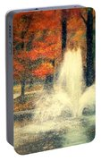 Central Park In Autumn Portable Battery Charger