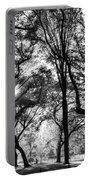 Central Park In Black And White Portable Battery Charger