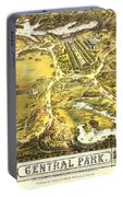Central Park Map, Manhattan New York, 1863 Portable Battery Charger