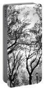 Central Park Nyc In Black And White Portable Battery Charger