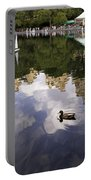 Central Park Pond With Two Ducks Portable Battery Charger by Madeline Ellis