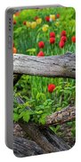Central Park Shakespeare Garden New York City Ny Wooden Fence Portable Battery Charger