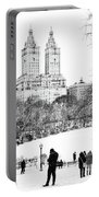 Central Park Snow Lakeside Portable Battery Charger