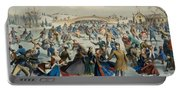 Central Park, Winter The Skating Pond, 1862 Portable Battery Charger
