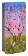 Cercis Tree, Oil Painting Portable Battery Charger
