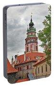 Cesky Krumlov Castle Tower In Cesky Krumlov Of The Czech Republic Portable Battery Charger