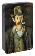 Cezanne: Pipe Smoker, C1892 Portable Battery Charger