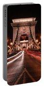 Chain Bridge At Midnight Portable Battery Charger