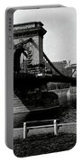 Chain Bridge Of Budapest In 1990 Portable Battery Charger
