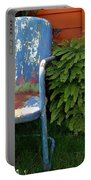 Chair Of Many Colors Portable Battery Charger by Patricia Strand