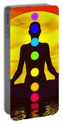 Chakras At Sunset - 3d Render Portable Battery Charger