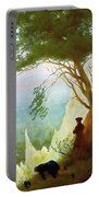 Chalk Cliffs On Rugen Portable Battery Charger