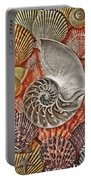 Chambered Nautilus Shell Abstract Portable Battery Charger