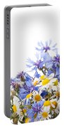 Chamomile And Cornflower Mix Portable Battery Charger