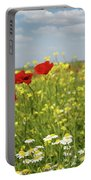 Chamomile And Poppy Flowers Meadow Portable Battery Charger