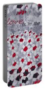 Champs De Marguerites - Love Is In The Air - Red -a23a3 Portable Battery Charger