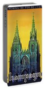 Champagne, Reims, Cathedral, France Portable Battery Charger