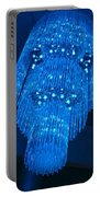 Chandelier In Blue 1 Portable Battery Charger