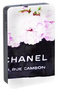 Chanel Bag With Peony  Portable Battery Charger