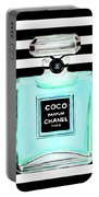 Chanel Perfume Turquoise Chanel Poster Chanel Print Portable Battery Charger