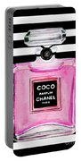 Chanel Pink Perfume 1 Portable Battery Charger