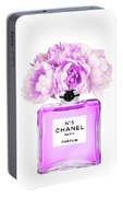 Chanel Print Chanel Poster Chanel Peony Flower Portable Battery Charger