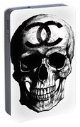 Chanel Skull Black Portable Battery Charger