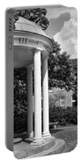 Chapel Hill Old Well In Black And White Portable Battery Charger