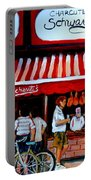 Charcuterie Schwartz's Deli Montreal Portable Battery Charger