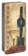 Chardonnay Wine And Grapes Portable Battery Charger