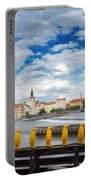 Charles Bridge And Penguines Portable Battery Charger