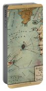 Charleston Harbor Vintage Map Portable Battery Charger