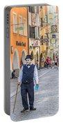 Charlie Chaplin In Innsbruck Portable Battery Charger