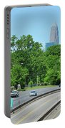 Charlotte Skyline From A Distance Portable Battery Charger