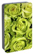 Chartreuse Colored Roses Portable Battery Charger