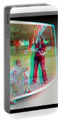 Chasing Bubbles - Use Red-cyan 3d Glasses Portable Battery Charger