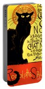 Chat Noir Vintage Portable Battery Charger