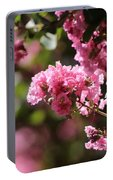 Chateau Rose Pink Flowering Crepe Myrtle  Portable Battery Charger