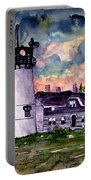 Chatham Lighthouse Martha's Vineyard Massachuestts Cape Cod Art Portable Battery Charger