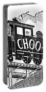 Chattanooga Choo Choo Sign In Black And White Portable Battery Charger
