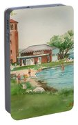 Chautauqua Bell Tower And Beach Portable Battery Charger