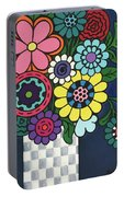 Checkered Bouquet Portable Battery Charger