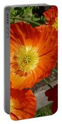 Cheerful Orange Flowers  Portable Battery Charger