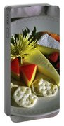 Cheese Wedges With Crackers And Fruit Portable Battery Charger