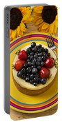 Cheesecake With Fruit Portable Battery Charger