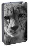 Cheetah Black And White Portable Battery Charger